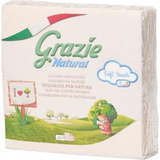 Grazie Natural Χαρτοπετσέτες 40 φύλλα