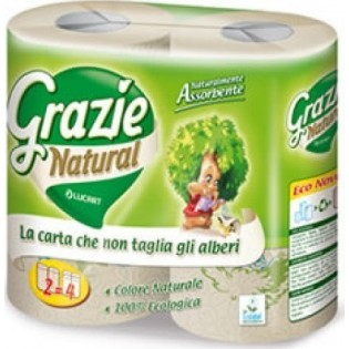 Grazie Natural Χαρτί Κουζίνας 2 Ρολά 2 φύλλα