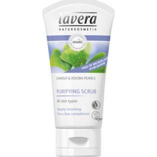 Lavera Εντατικό Πίλινγκ Καθαρισμού Προσώπου με ginkgo & πέρλες jojoba για όλους τους τύπους δέρματος 50ml
