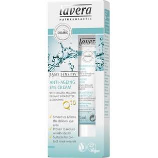 Lavera Q10 Κρέμα Ματιών με βιολογική μολόχα, βιολογικό βούτυρο shea & συνένζυμο Q10 15 ml