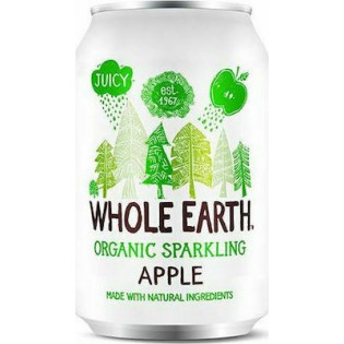 Whole Earth Ανθρακούχο Ποτό Μήλο με Σιρόπι Αγαύης 330ml