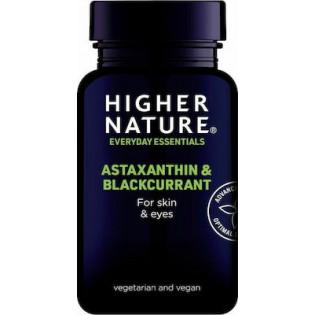 Higher Nature Astaxanthin and BlackCurrant 90 φυτικές κάψουλες