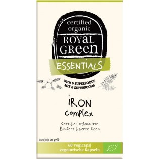 Royal Green Organic Iron Complex 60 φυτικές κάψουλες