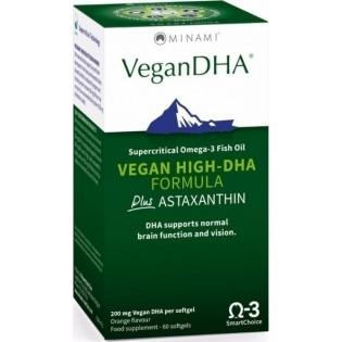 Minami VeganDHA Vegan High DHA Formula Plus Astaxanthin 60 κάψουλες