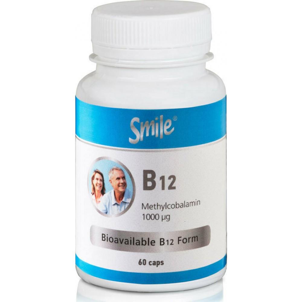Smile B12 1000mg 60 κάψουλες