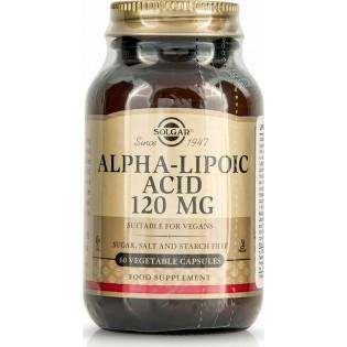 Solgar Alpha Lipoic Acid 120mg 60 φυτικές κάψουλες