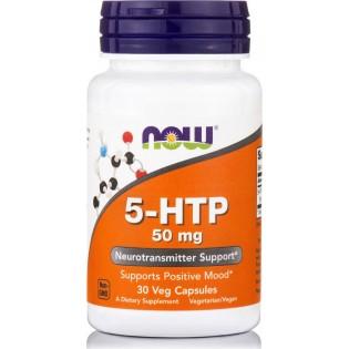 Now Foods 5-HTP 50mg 30 φυτικές κάψουλες