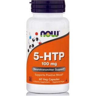Now Foods 5-HTP 100mg 60 φυτικές κάψουλες