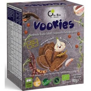 Όλα Βίο Vookies με Χαρούπι και Σκόρδο ΒΙΟ 80gr