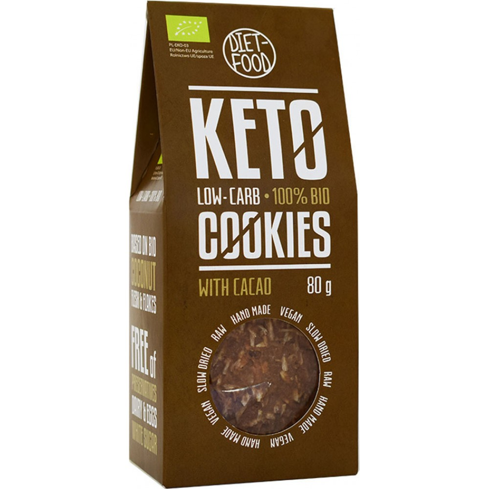 Diet-Food Μπισκότα Κετο με Κακάο 80gr