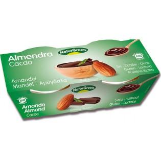 NaturGreen Επιδόρπιο Αμυγδάλου Σοκολάτα 2x125gr