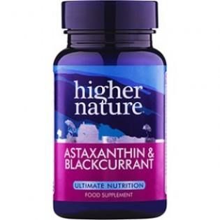 Higher Nature Astaxanthin and BlackCurrant 90 κάψουλες