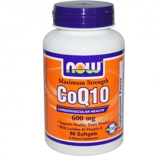 Now Foods CoQ10 600mg 60 μαλακές κάψουλες