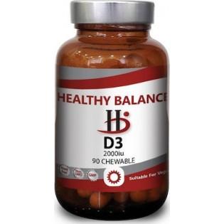 Healthy Balance D3 2000 IU 90 Μασώμενα Δισκία