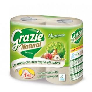 Grazie Χαρτί τουαλέτας 3φυλλο ΜΑΧΙ 4 ρολά-270 φύλλα