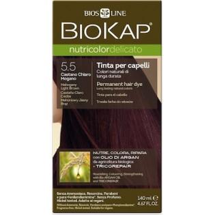 Biosline Biokap Nutricolor Delicato 5.5 Mahogany Light Brown (Καστανό Ανοιχτό Ακαζού)