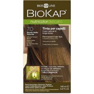 Biosline Biokap Nutricolor Delicato 7.00 Natural Medium Blonde (Ξανθό Φυσικό Χρυσαφί)