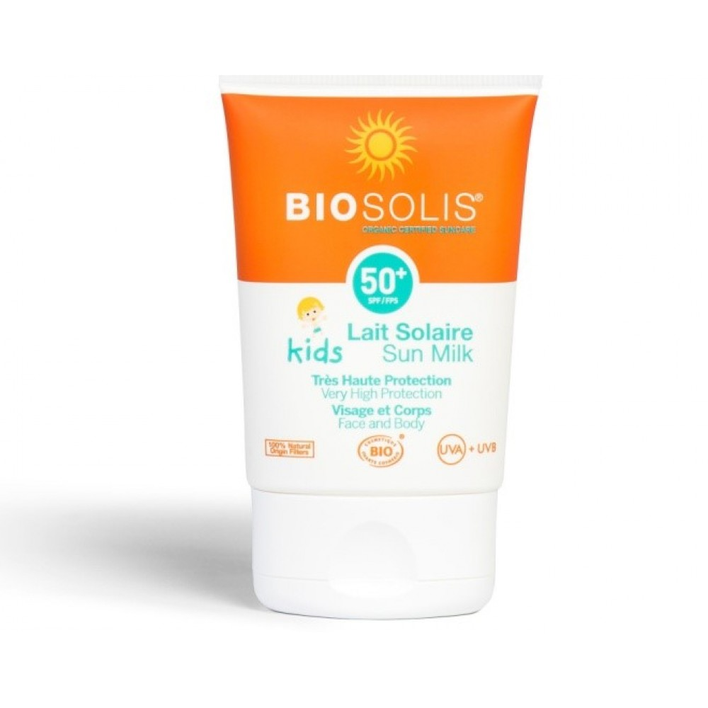 Biosolis Sun Milk for Face & Body Babies & Kids (Παιδικό) SPF50 50ml ΠΙΣΤΟΠΟΙΗΜΕΝΟ ΒΙΟΛΟΓΙΚΟ