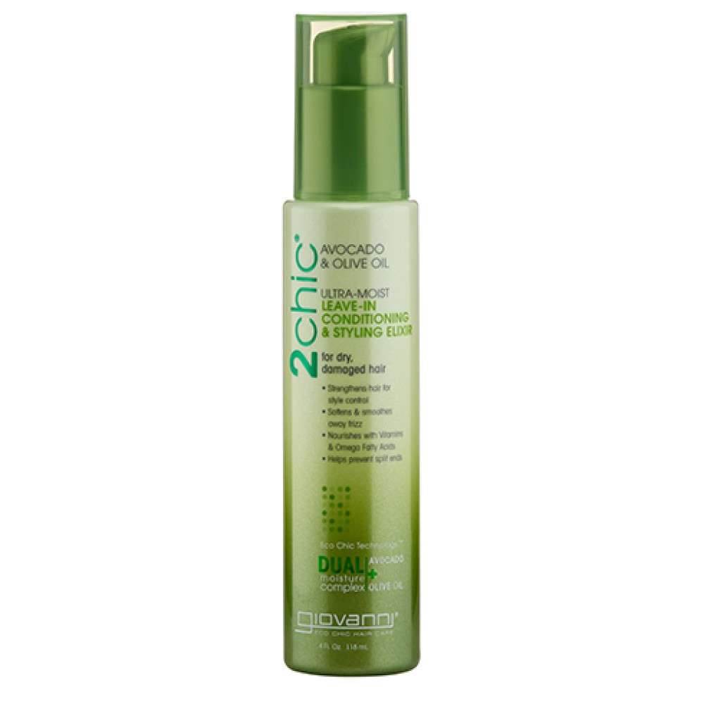 2 CHIC ULTRA MOIST LEAVE-IN CONDITIONING & STYLING ELIXIR 118ml
