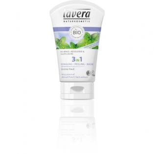 Lavera 3σε1 Καθαρισμός Προσώπου  βιολογική μέντα  λιπαρό δέρμα 125 ml
