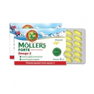 Moller's Μουρουνέλαιο Forte Omega-3 30 Κάψουλες (Καρτέλα)
