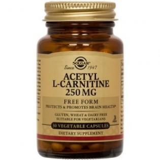 Solgar Acetyl-L-Carnitine 250mg 30 φυτικές κάψουλες