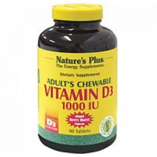 Nature's Plus Adult's Chewable Vitamin D3 1000 IU 90 ταμπλέτες