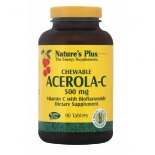 Nature's Plus Acerola C Complex 500mg 90 μασώμενες ταμπλέτες