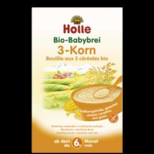 Holle Βρεφική Κρέμα από Κεχρί, Καλαμπόκι & Ρύζι 250gr