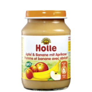 Holle Κρέμα σε Βάζο Μήλο, Μπανάνα & Βερίκοκο 190gr
