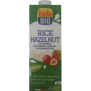 Isola Bio Βιολογικό Ρόφημα Ρυζιού με Φουντούκια 1L