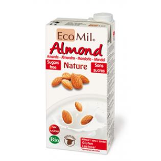 ECOMIL - Ρόφημα Αμυγδάλου Φυσικό (χ/γλυκαντικά,χ/ζάχαρη) ΒΙΟ 1 Lit
