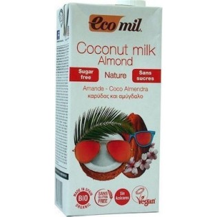 EcoMil Γάλα Καρύδας Αμύγδαλο Χωρίς Ζάχαρη Χωρίς Γλουτένη 1lt BIO