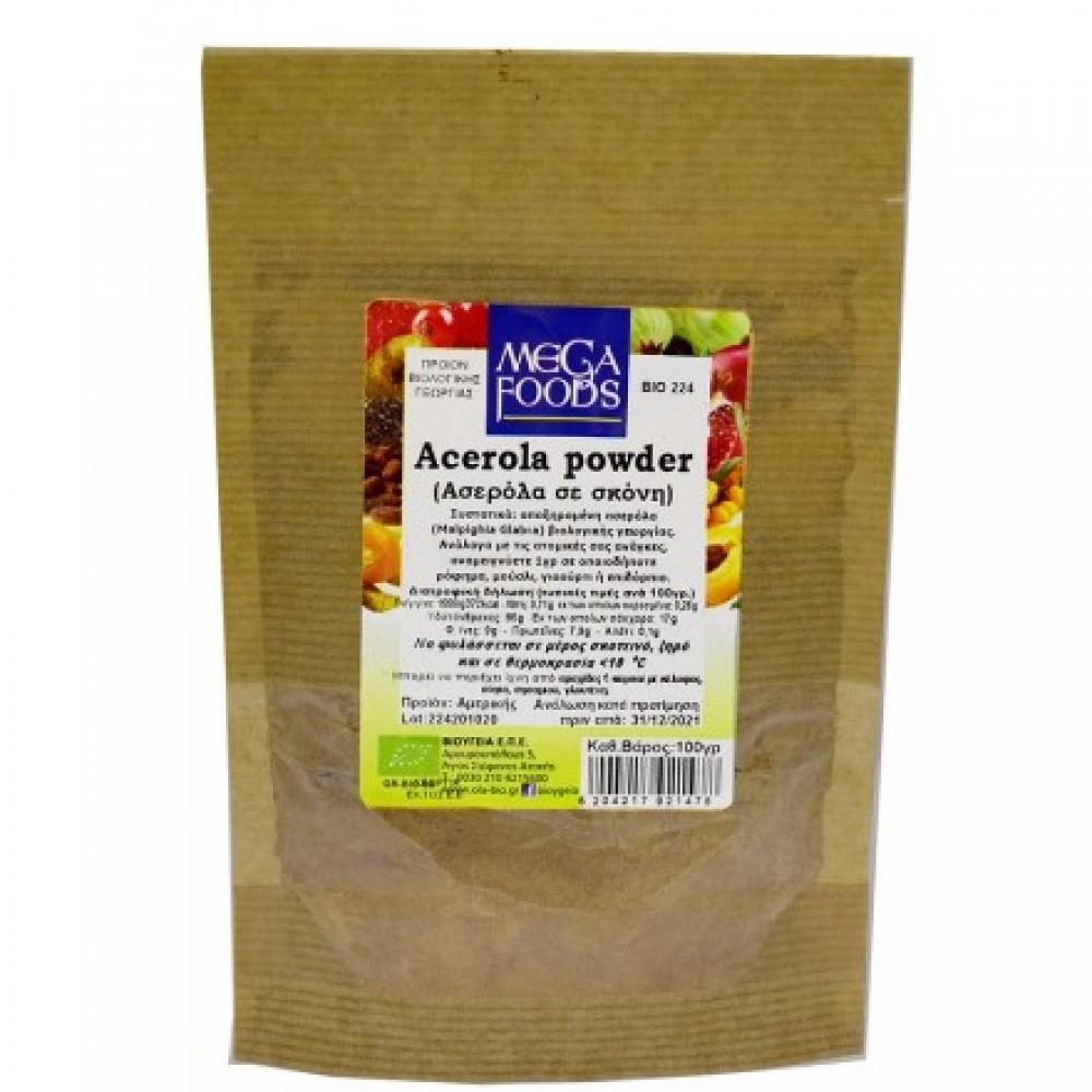 Mega Foods Acerola Powder (Ασερόλα Σκόνη) 100gr BIO