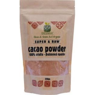 Green Bay Βιολογικό Cacao Powder Raw Κακάο σε σκόνη 50gr