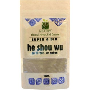 Green Bay Βιολογική He Shou Wu (Ρίζα Fo-ti) Σκόνη 100gr