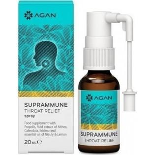 Agan Suprammune Throat Relief Spray Φυσική Αντιμετώπιση Ερεθισμών του Λαιμού 20ml