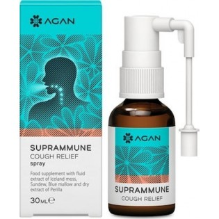 Agan Suprammune Cough Relief Spray Φυσική Αντιμετώπιση του Ξηρού - Ερεθιστικού Βήχα 30ml