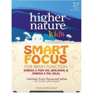 Higher Nature Smart Focus Kids Omegas 27 μασώμενες ταμπλέτες