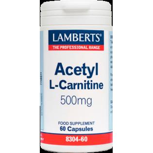 Lamberts Acetyl L Carnitine 500mg 60 caps