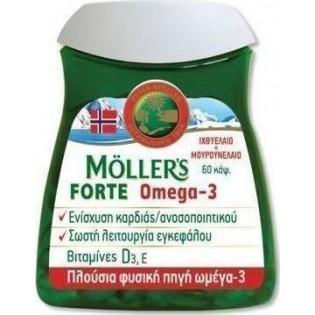Moller's Μουρουνέλαιο Forte Omega-3, 60 Κάψουλες