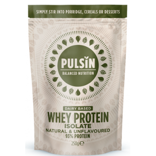 Pulsin Whey Protein Isolate (Πρωτεΐνη Ορού Γάλακτος) 250gr Unflavoured