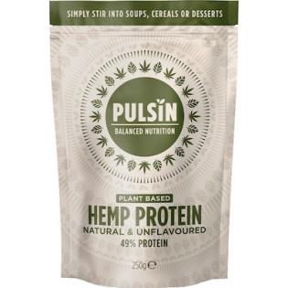 Pulsin Hemp Protein (100% Καθαρή Πρωτεΐνη Κάνναβης) 250gr