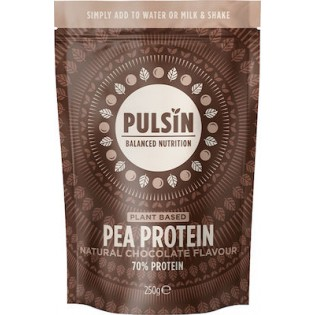 Pulsin Pea Protein Chocolate (Πρωτεΐνη Αρακά με Γεύση Σοκολάτας) 250gr