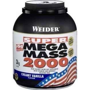 Weider Mega Mass 2000 3kg Βανίλια