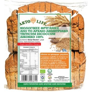 Artolife Βιολογικές Φρυγανιές από Δίκκοκο Αλεύρι 100% 400gr