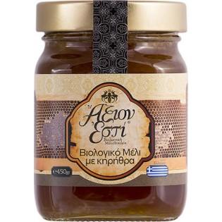 Άξιον Εστί Βιολογικό Μέλι Με Κηρήθρα 450gr