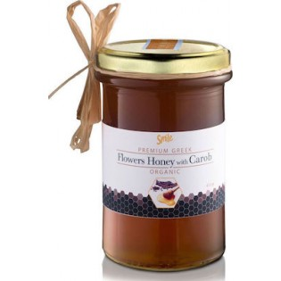 Smile Μέλι Βιολογικό Ανθέων με Χαρούπι 410gr