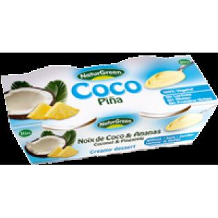 NaturGreen Επιδόρπιο καρύδας ανανάς χωρίς λακτόζη 2*125gr