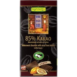 Rapunzel Σοκολάτα Μαύρη με 85% Κακάο 80gr